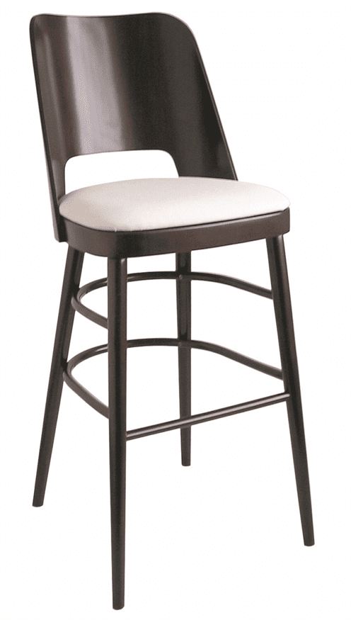 Brunswick bar stool RFU seat raw