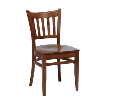 Houston side chair veneer seat