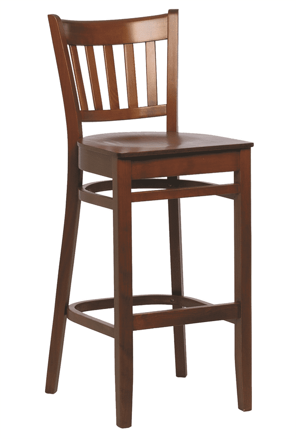 Houston bar stool veneer seat