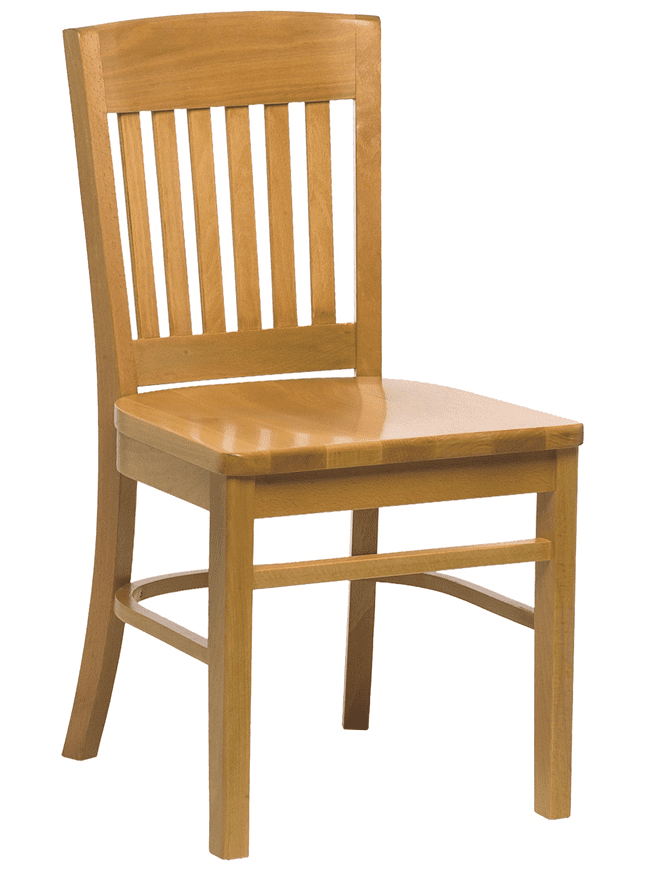 Boston side chair solid seat