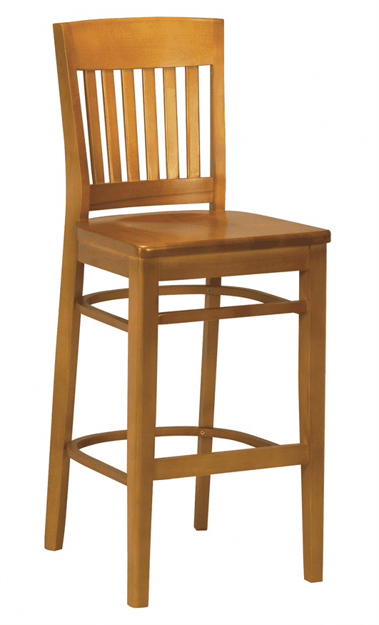 Boston bar stool solid seat