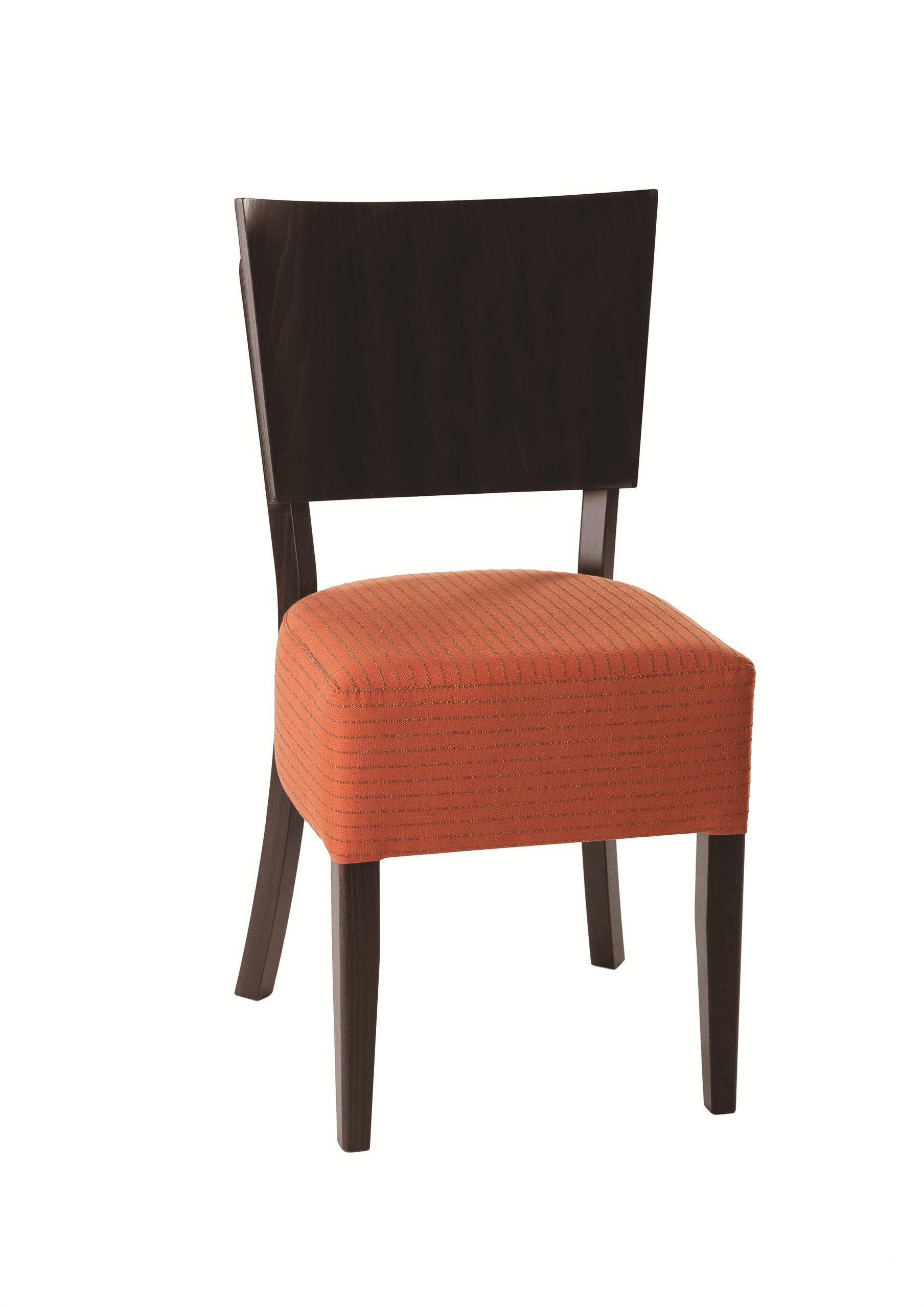Rebecca side chair RFU seat veneer back raw
