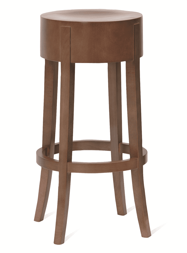 Jury high stool veneer seat raw