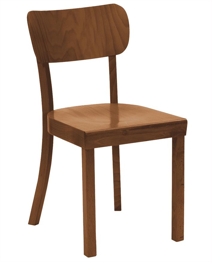 Paris side chair veneer seat raw