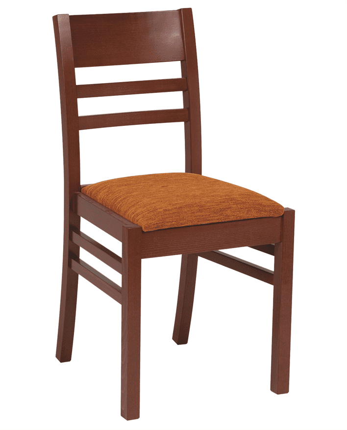 Coco rail back side chair RFU seat & back raw