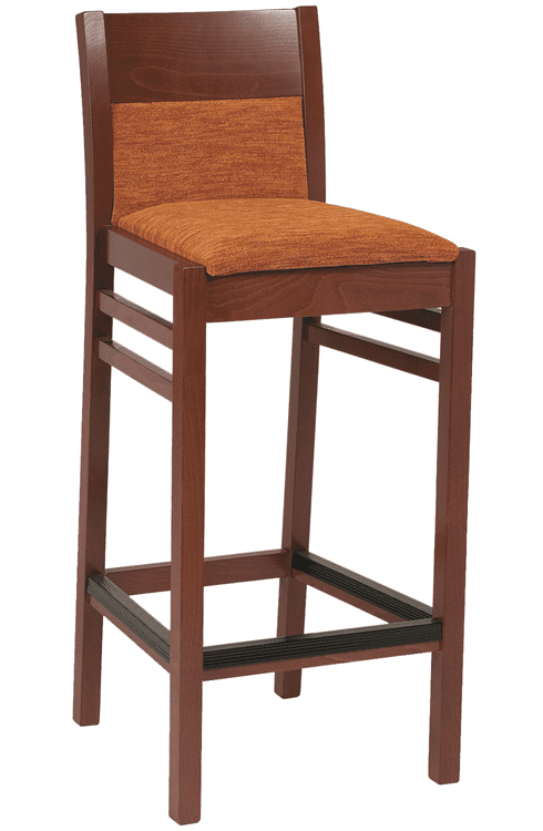 Coco bar stool RFU seat & back raw