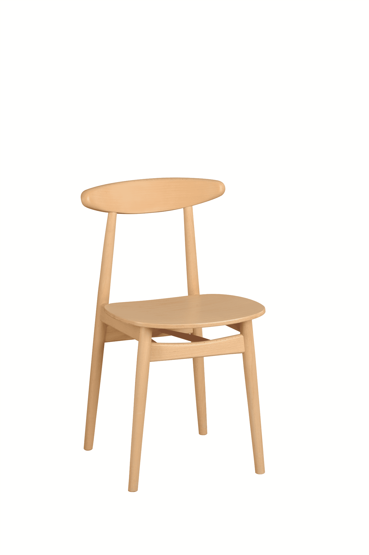 Kitty side chair veneer seat raw