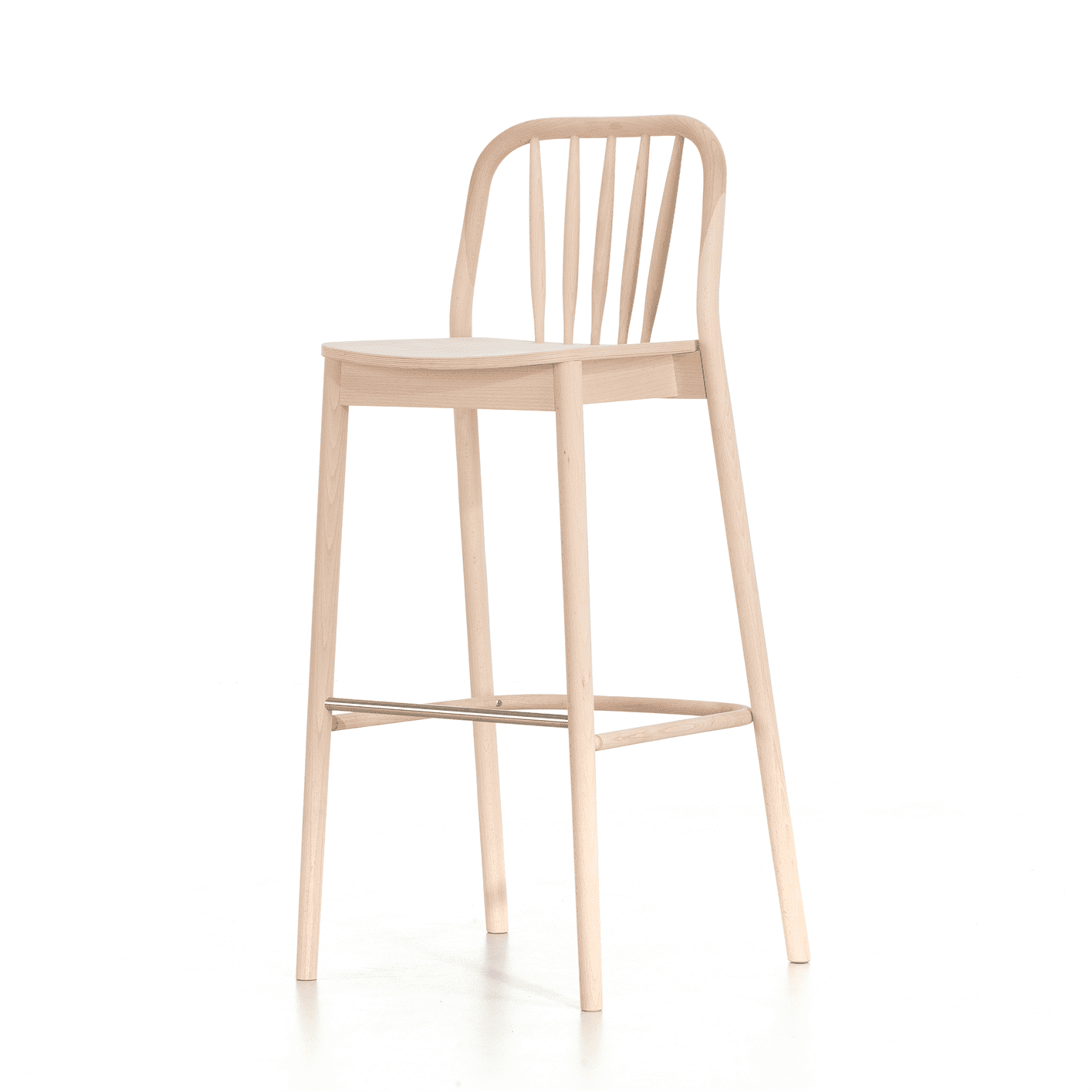 Aldgate bar stool veneer seat raw