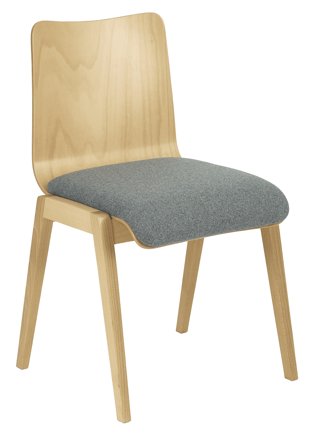 Ladbroke stacking side chair veneer shell raw