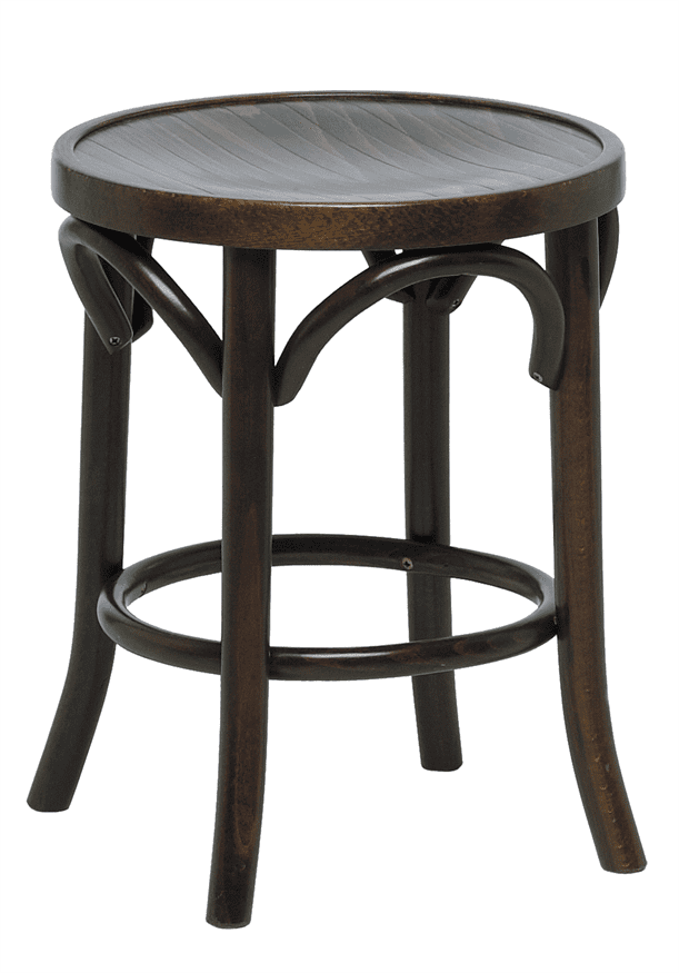 Bentwood low stool veneer seat