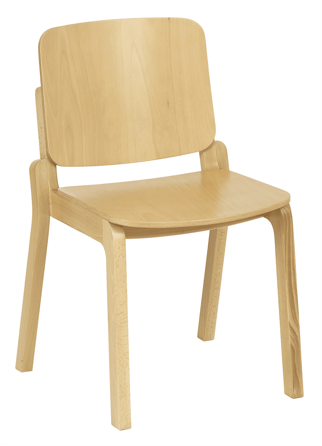 Croxley stacking side chair veneer seat raw