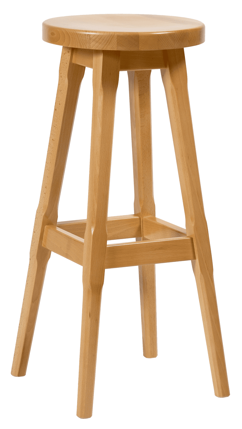 Galway high stool solid seat