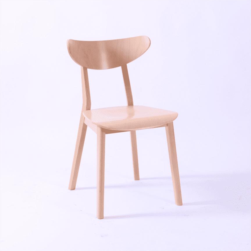 Loughton side chair veneer seat & back raw