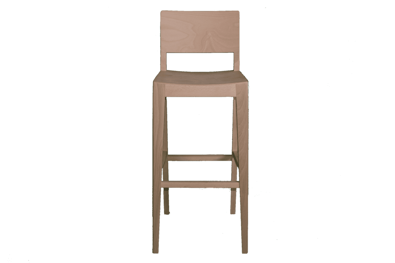 Barbican stacking bar stool veneer seat & back raw
