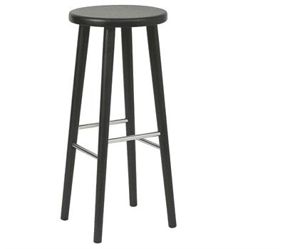 Kew high stool solid seat raw