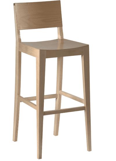 Reuben bar stool veneer seat and back raw