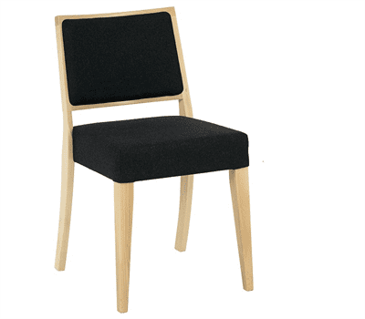 Reuben deep seat side chair RFU seat veneer back raw