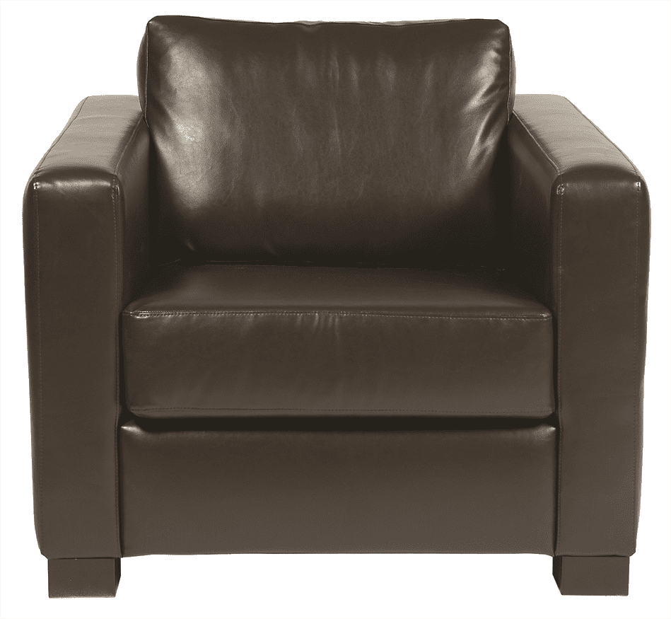 Chorus lounge chair UPH faux leather dark brown