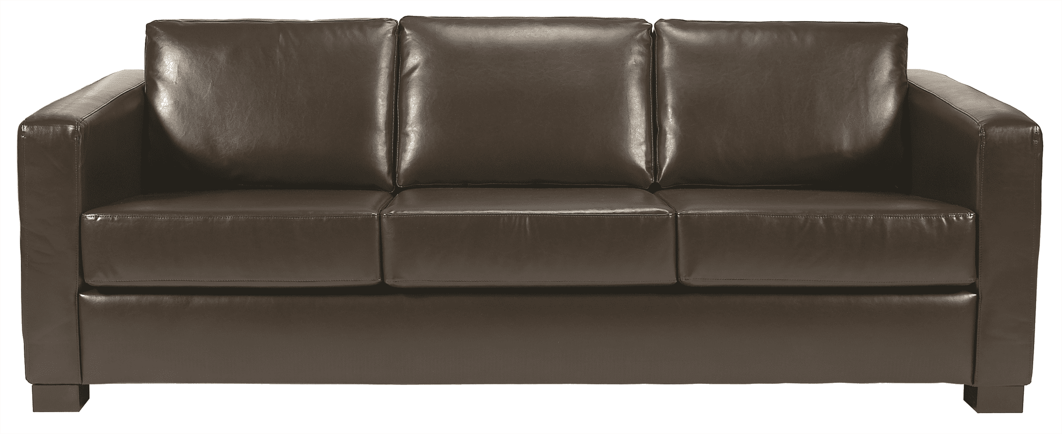 Chorus three seater sofa UPH faux leather dark brown