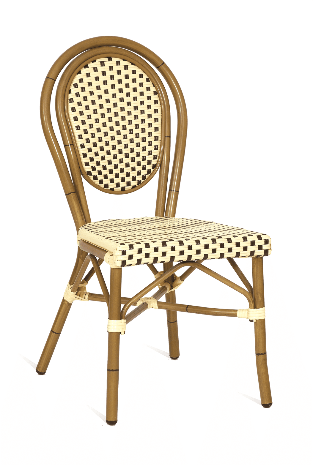 MONACO STK SIDE CHAIR CREAM BAMBOO