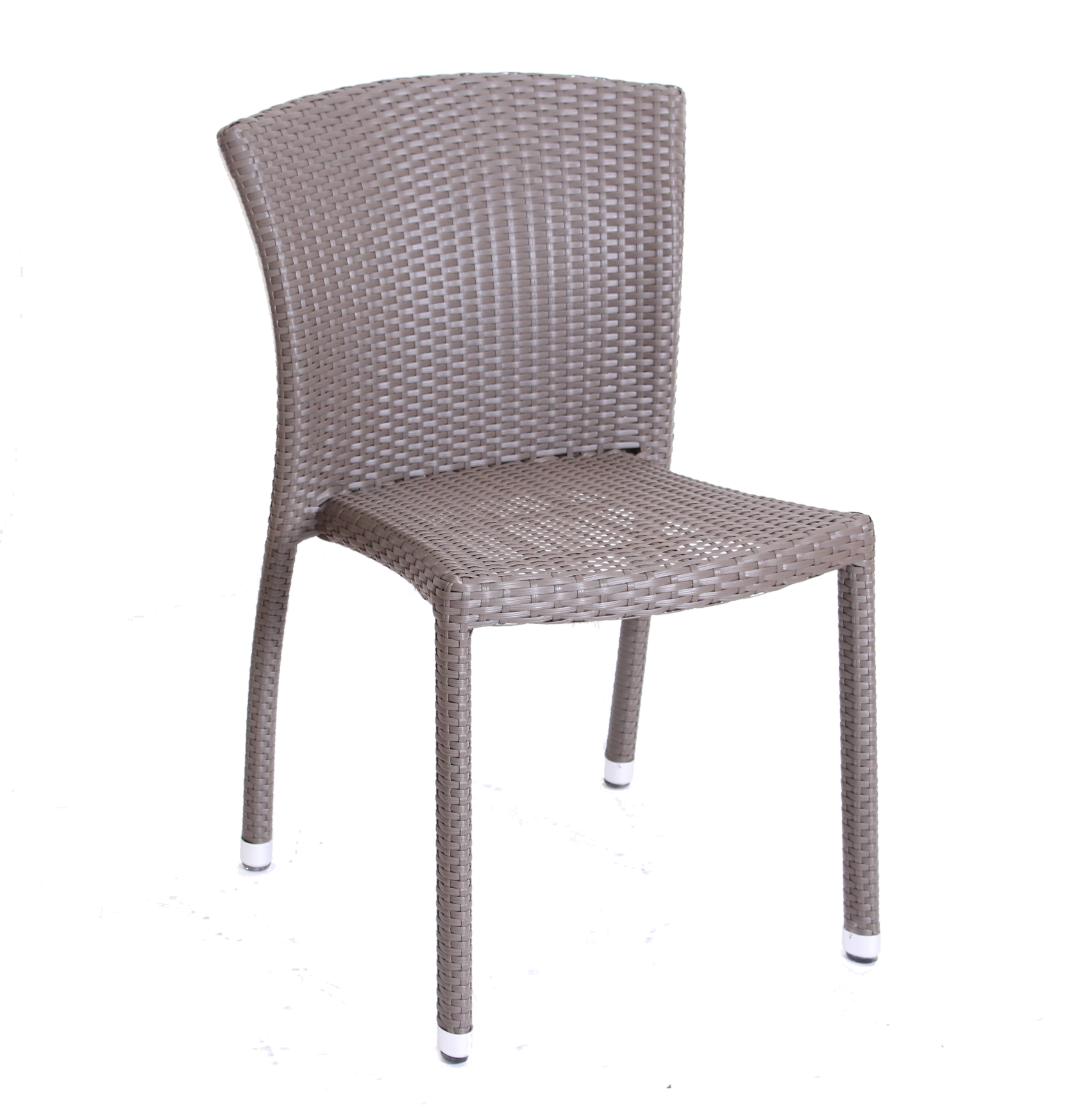 BIARRITZ SIDE CHAIR DK TAUPE WEAVE STBK