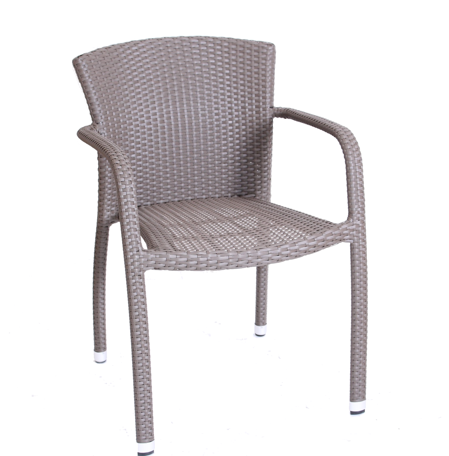 BIARRITZ ARMCHAIR DK TAUPE WEAVE STBK