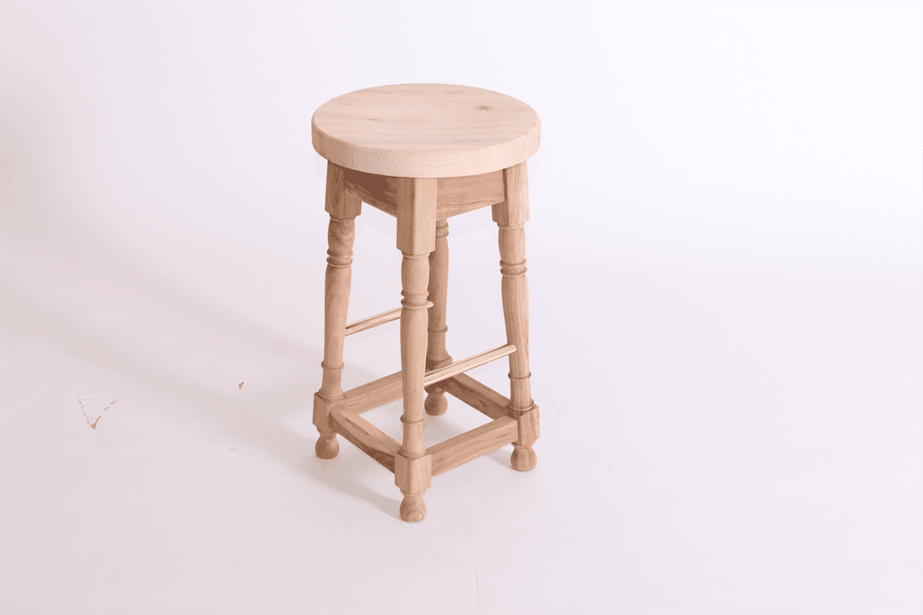 Dublin mid stool frame only acacia raw brass