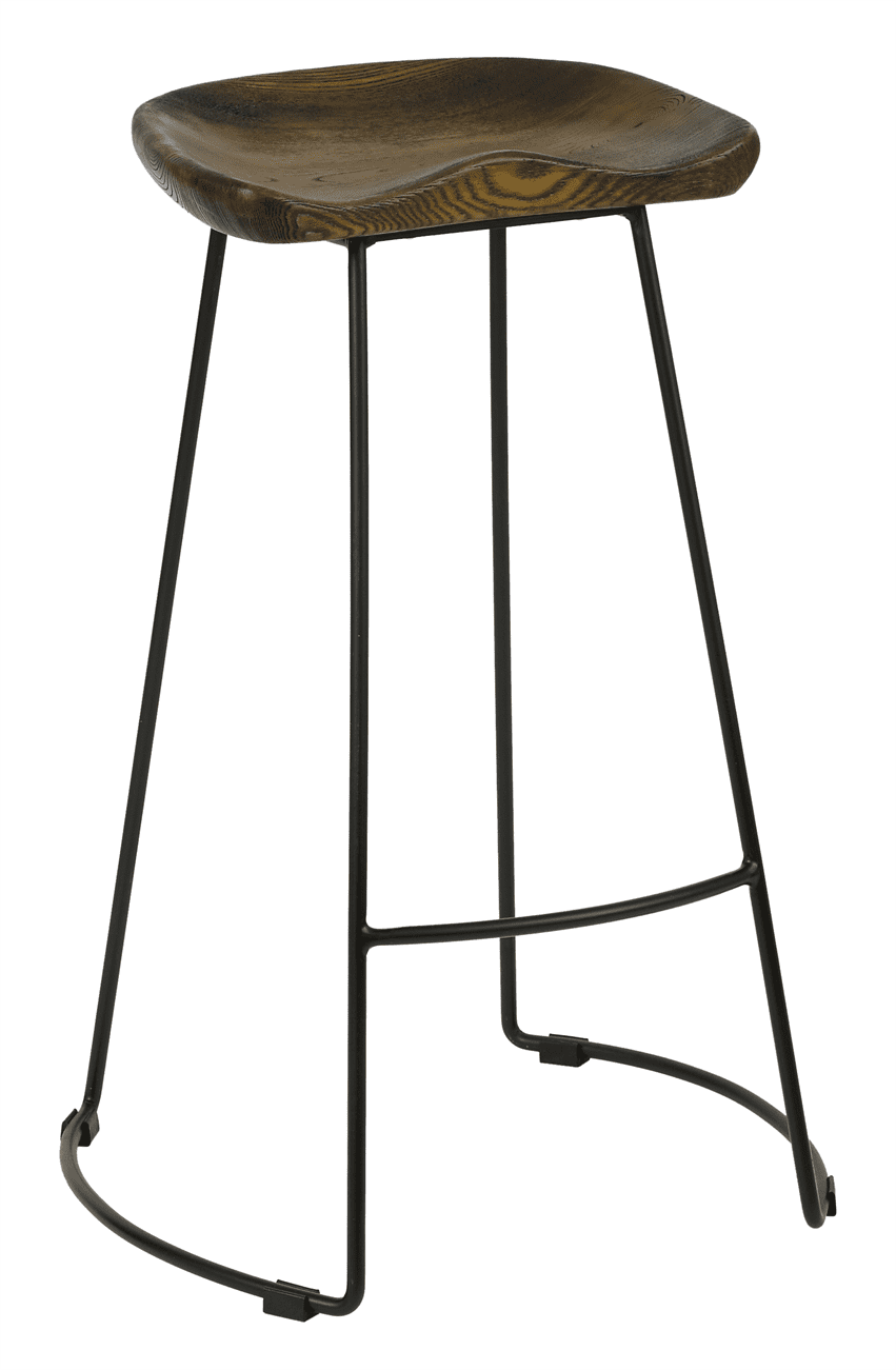 Veuve high stool solid seat  antique black