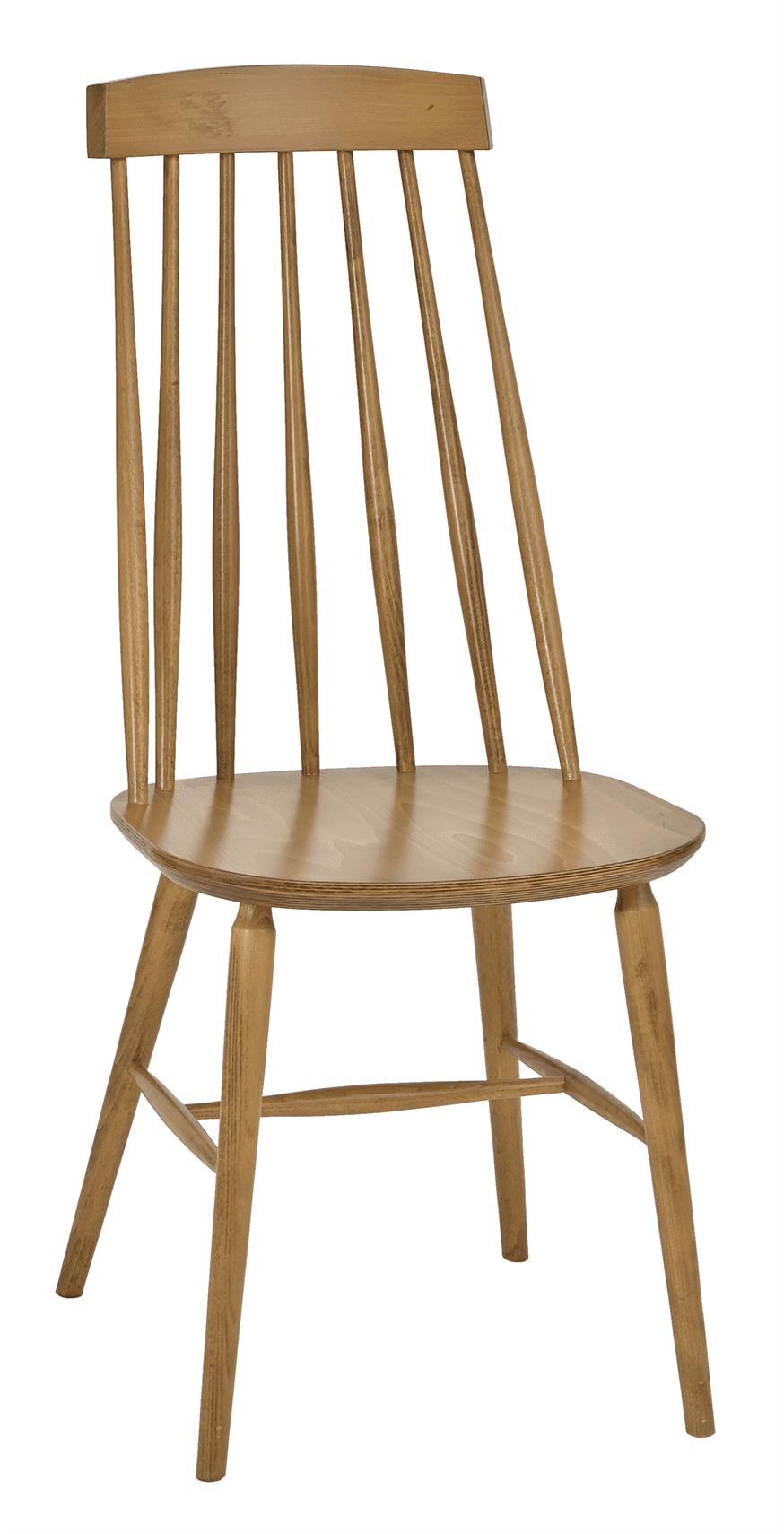 Helena high back side chair veneer seat raw