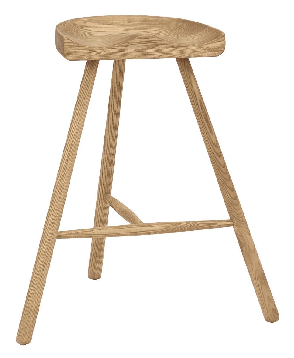 Cobblers high stool solid seat raw