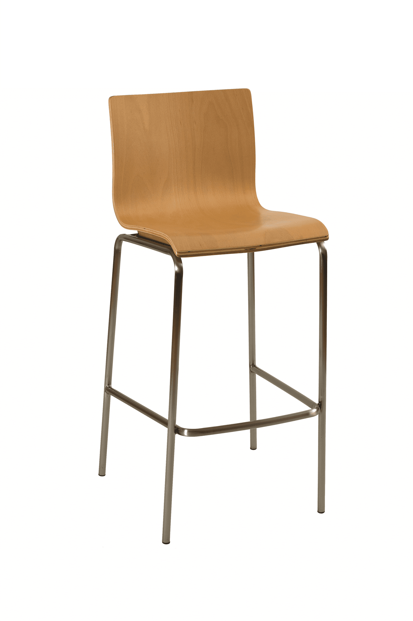 Hale stacking bar stool beech veneer natural