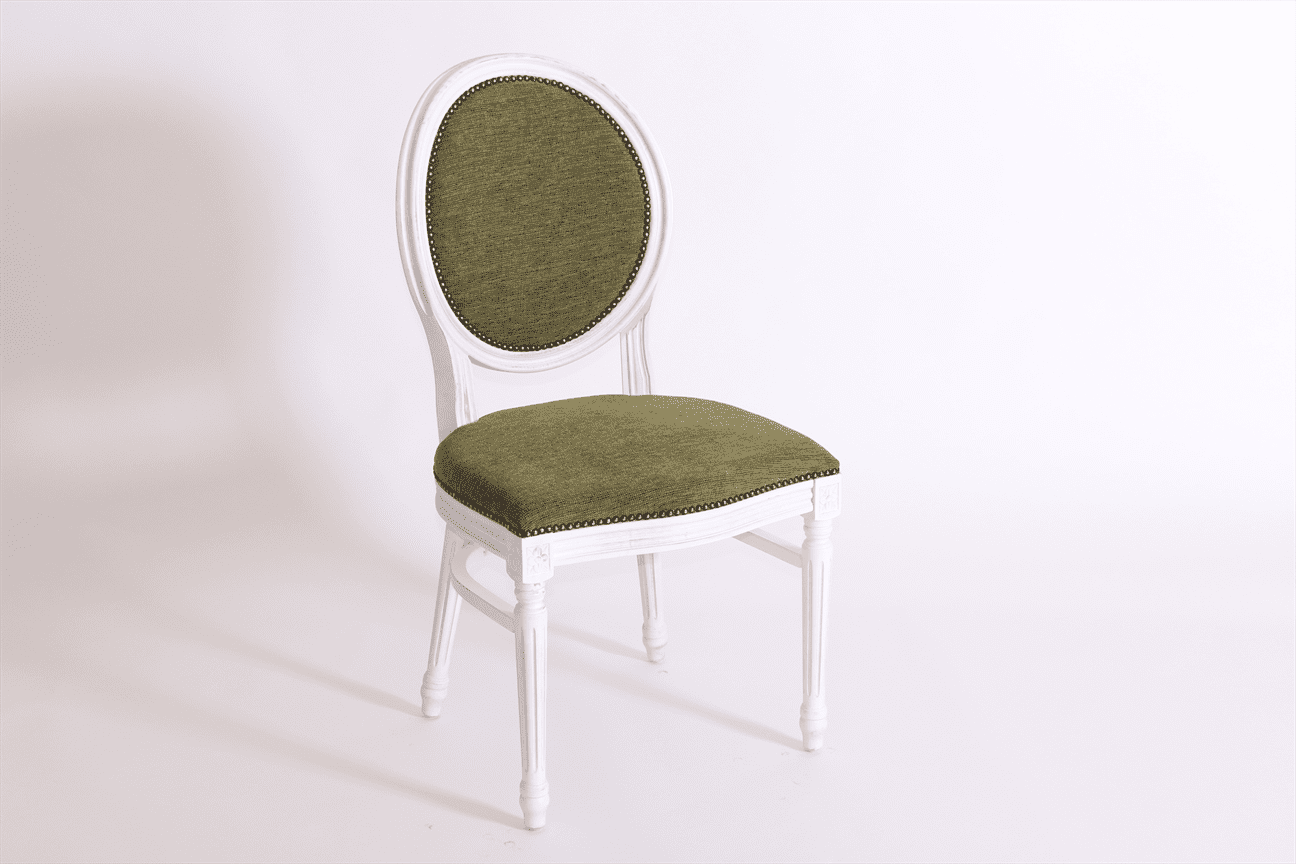 Anne side chair RFU seat and back raw