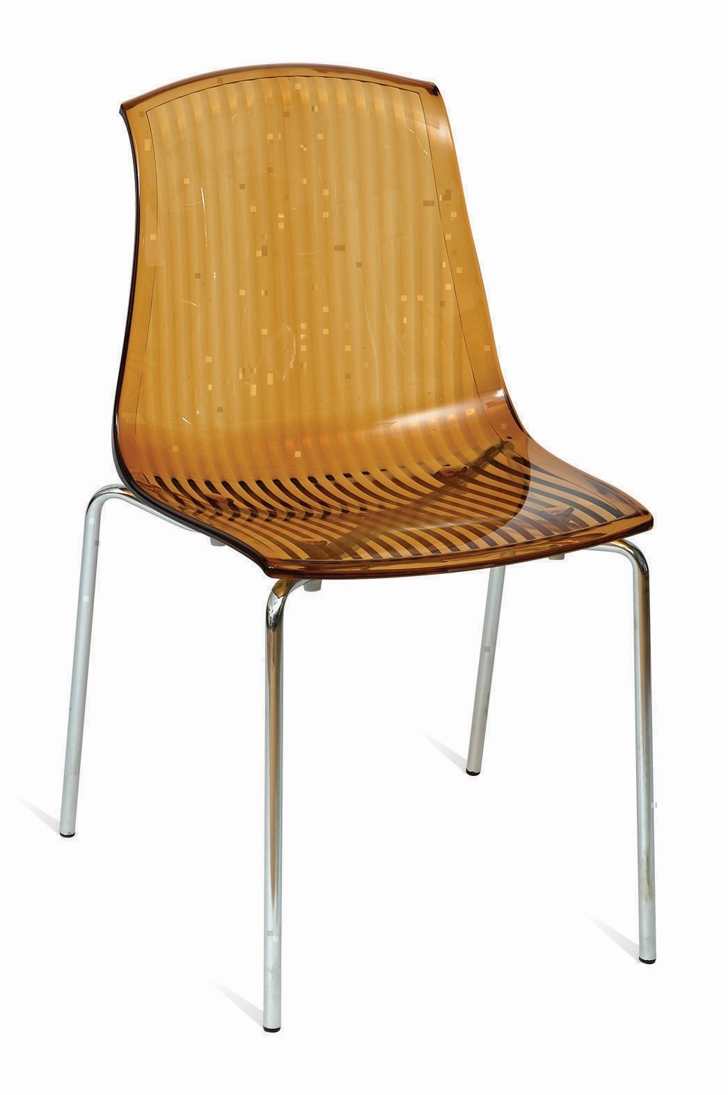 ADELAIDE STK SIDE CHAIR POLYCARB CLEAR