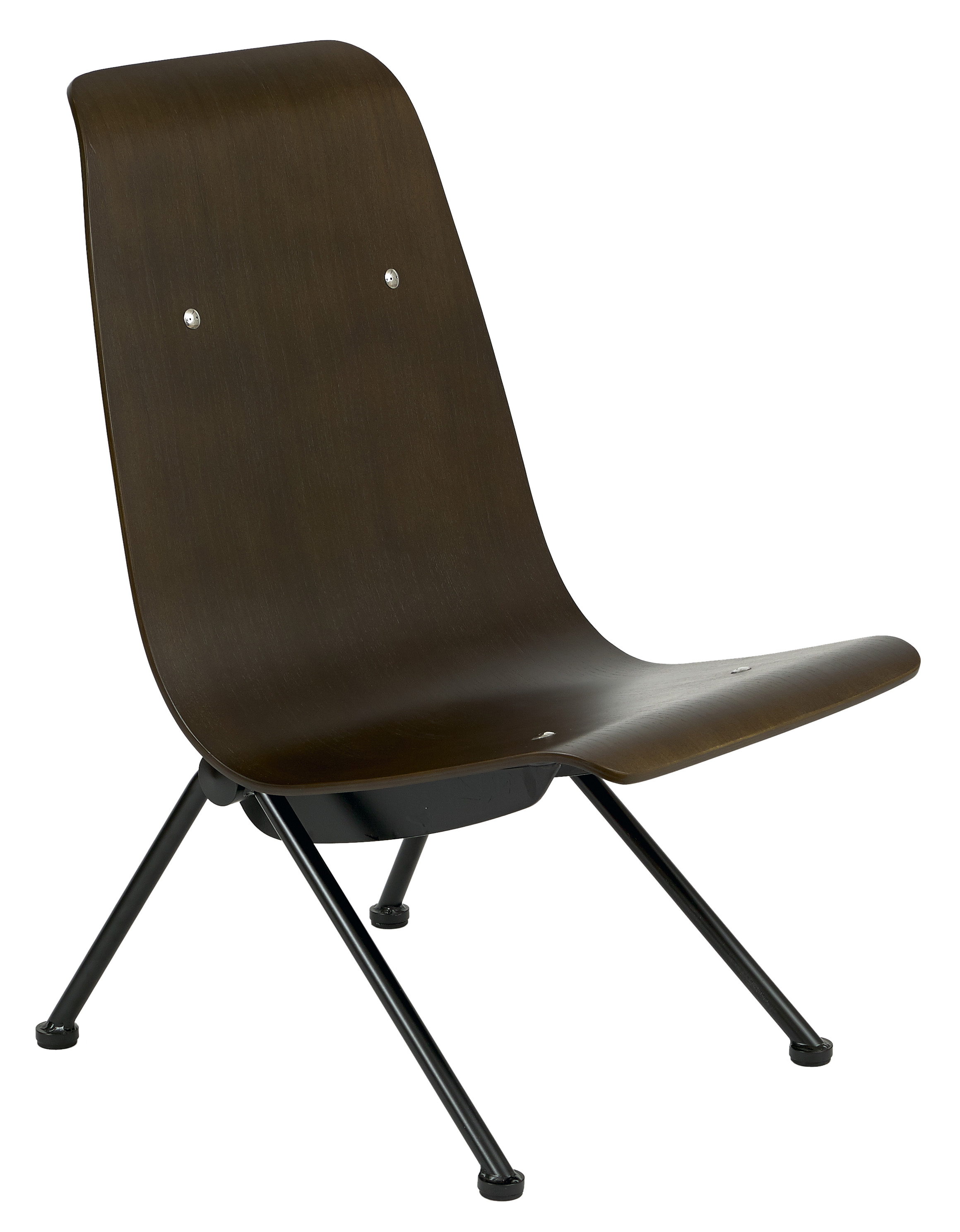 Avion side chair walnut seat