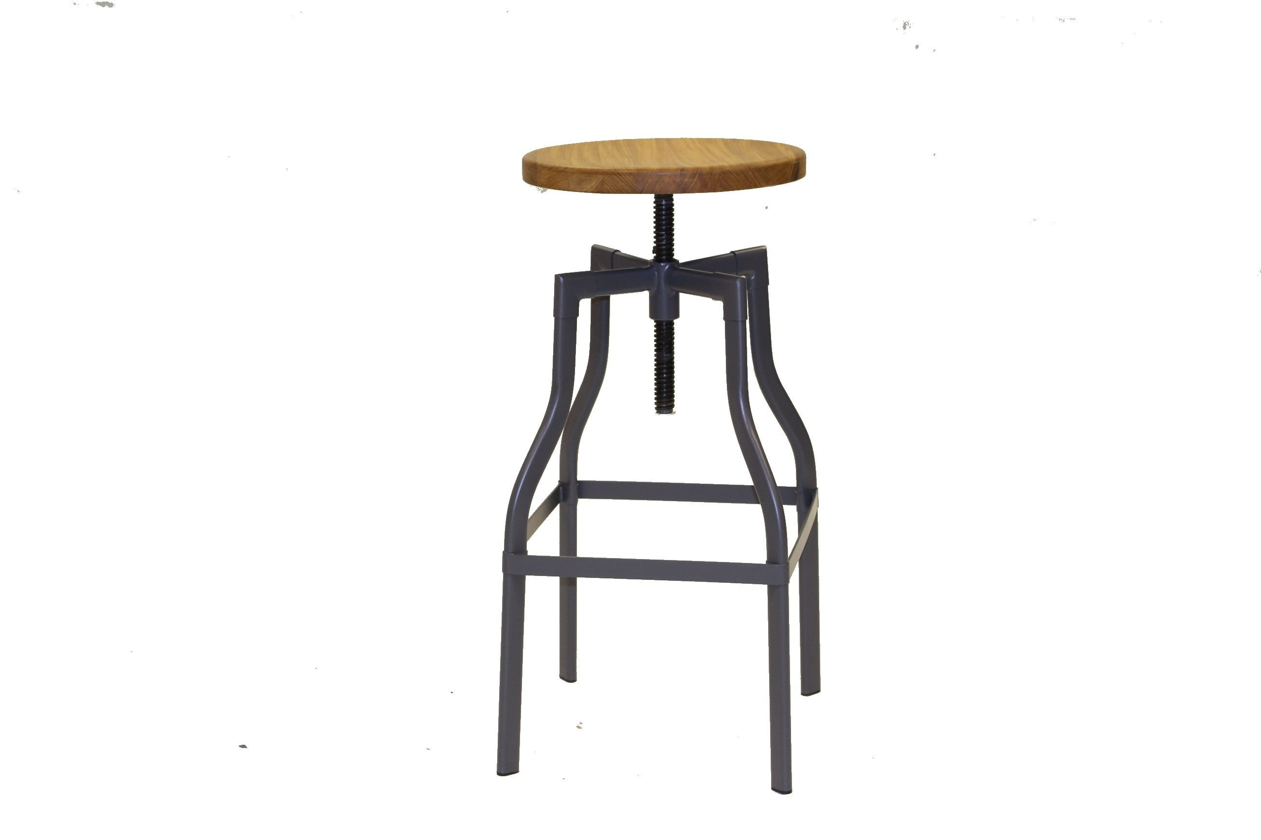 FACTORY ALL WEATHER HIGH STOOL CHARCOAL TEAK