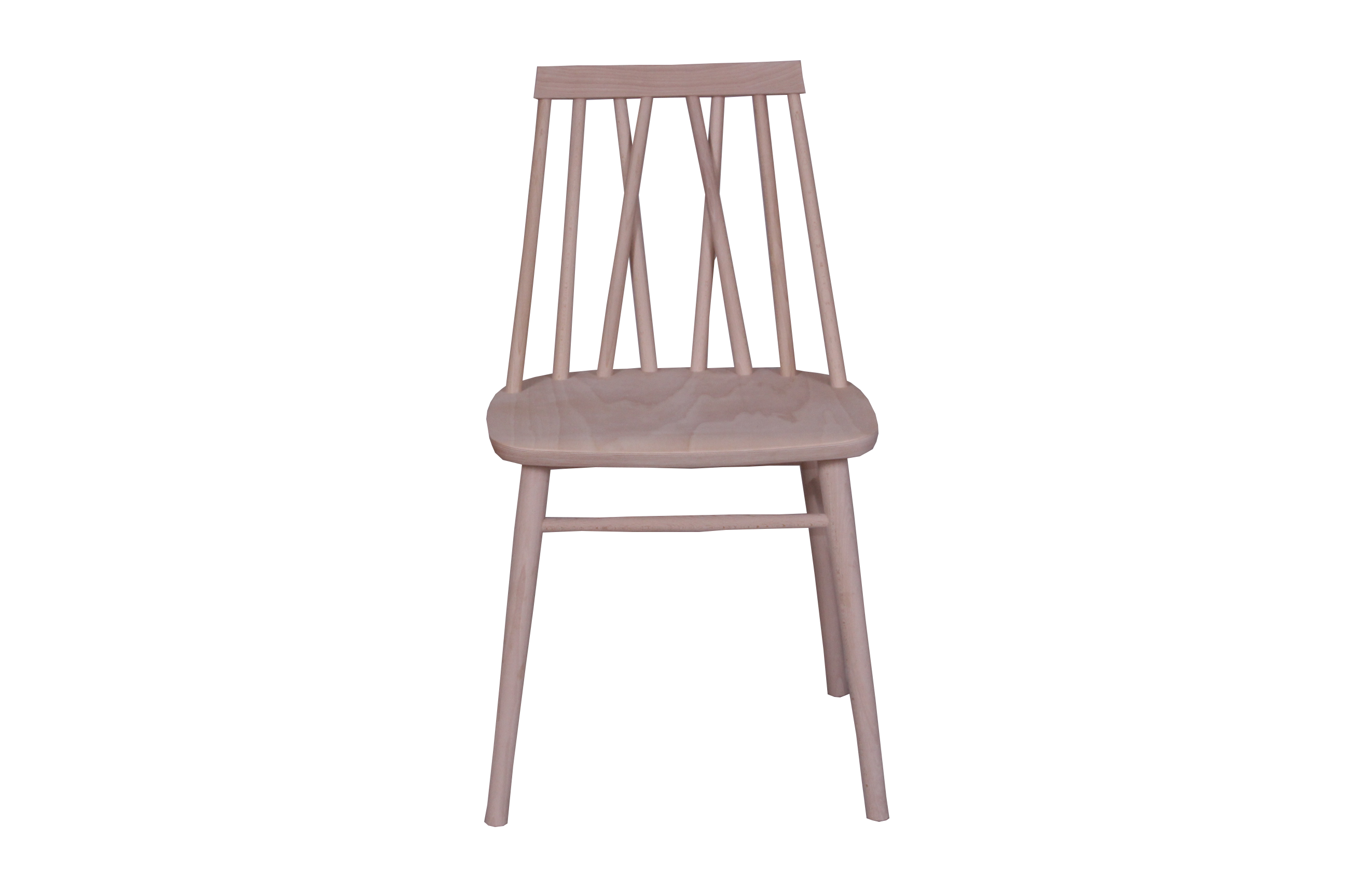 HELENA CROSS BACK SIDE CHAIR VENEER SEAT RAW