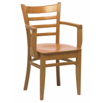 Dallas armchair veneer seat raw