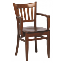 Houston armchair veneer seat raw