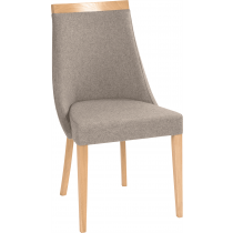 Lucille side chair RFU seat & back raw