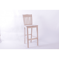 Rochester bar stool solid seat raw