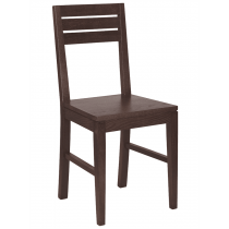 Dingle side chair solid seat raw