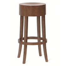Jury high stool veneer seat raw