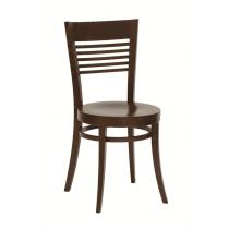 Rose side chair veneer seat