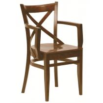 Geneva armchair veneer seat raw