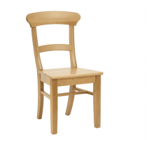 Spoonback soie chair solid seat raw