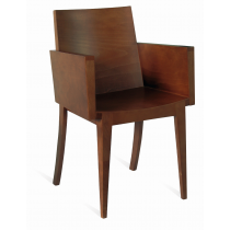 KIRBY FULL ARMCHAIR VENEER SEAT RAW