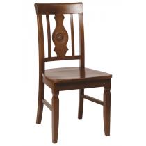 Harley bulls eye side chair solid seat raw