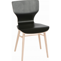 HEX SIDE CHAIR VENEER SEAT RAW