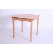 PRIMA MED SQ DIN TABLE SOLID BEECH