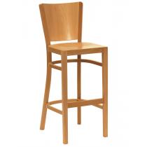 Oregon bar stool veneer seat and back raw